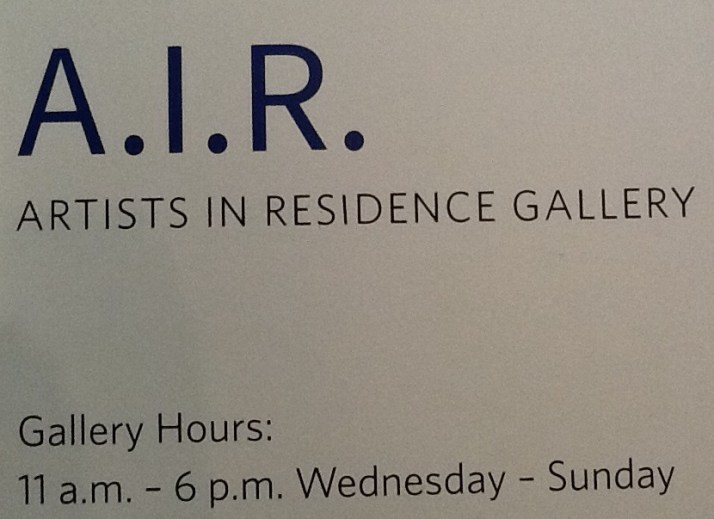 Artists in Residency Signage