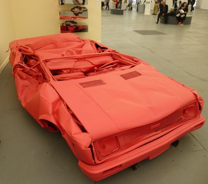 Pink Crushed Car