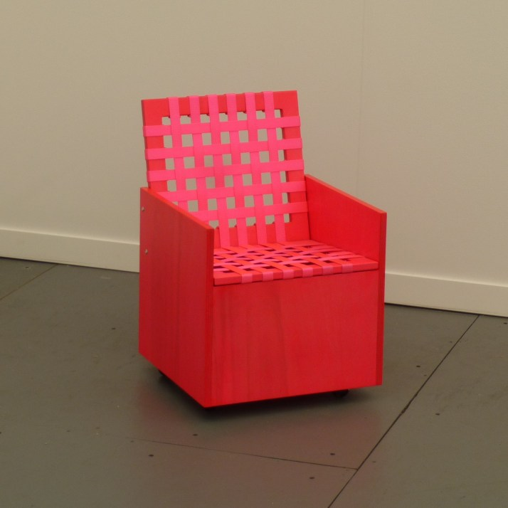 Pink Chair with Lattice Back