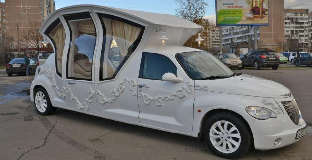 Russian PT Cruiser Wedding Limo