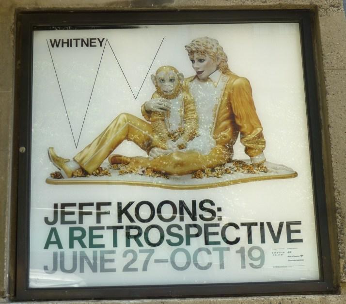 Jeff Koons Retrospective Signage