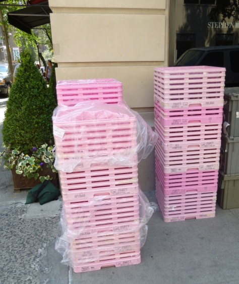 Stacked Pink Crates