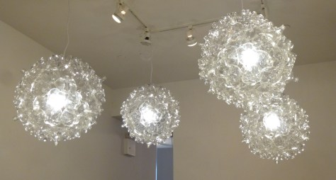 Recycled Plastic Bottle Pendent Lamps