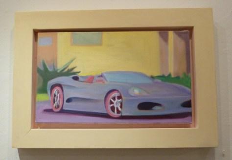 Stephen Lack Silver and Blue Ferrari