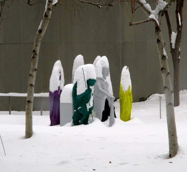 Group of Figures in the Snow