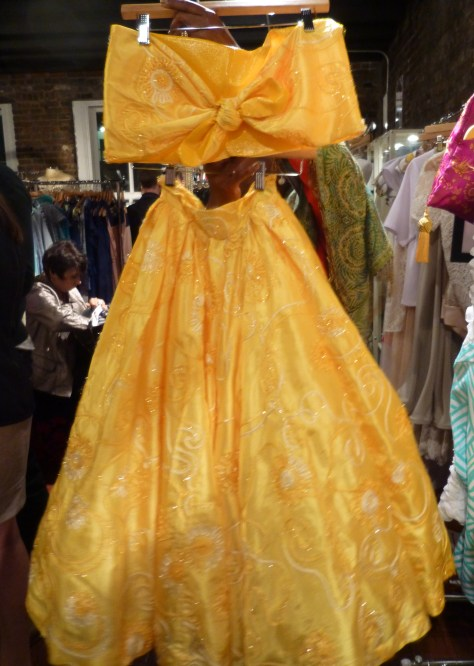 Bright Yellow Lace Bandeau and Full Skirt By Durdoux