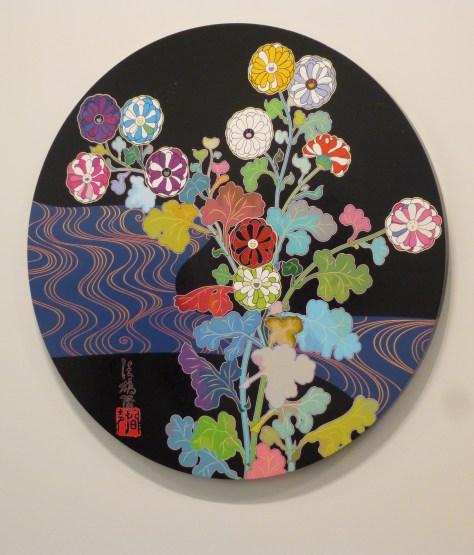 Round Floral on Black