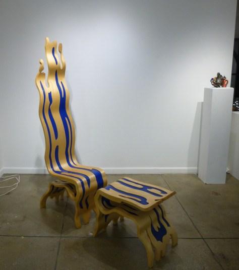 ROY LICHTENSTEIN Brushstroke Chair & Ottoman