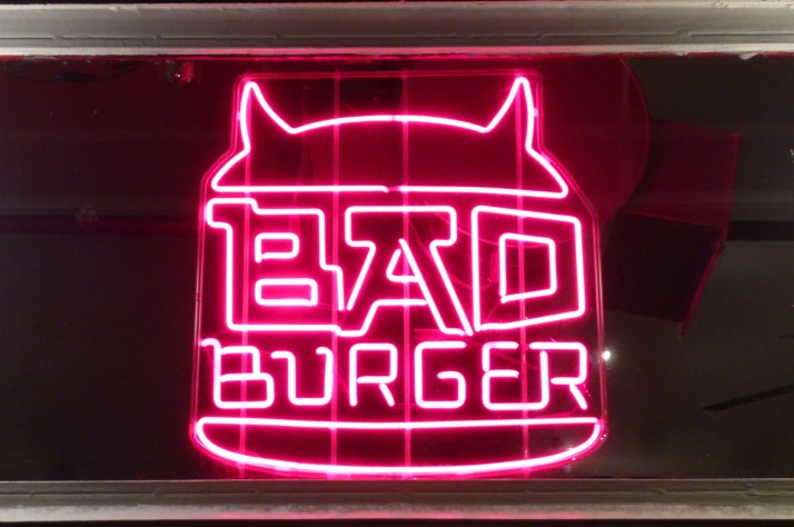 Bad Burger Neon Sign