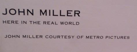 John Miller Exhibit Signage