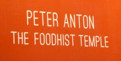 Foodhist Temple Signage