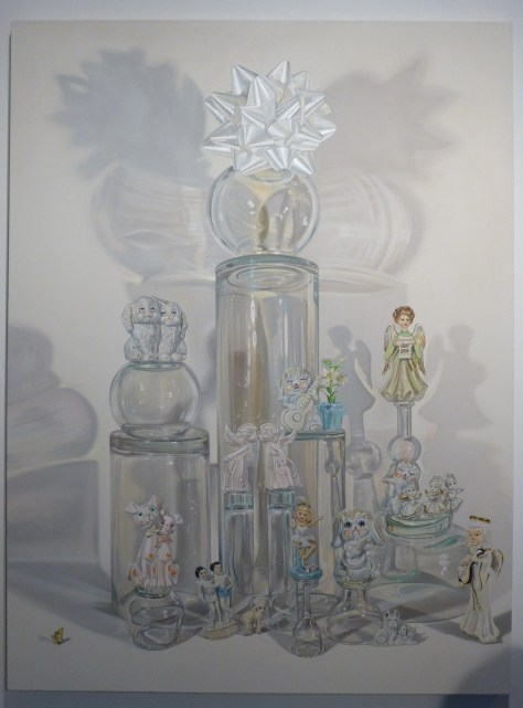 Glass and Figurines with Bow