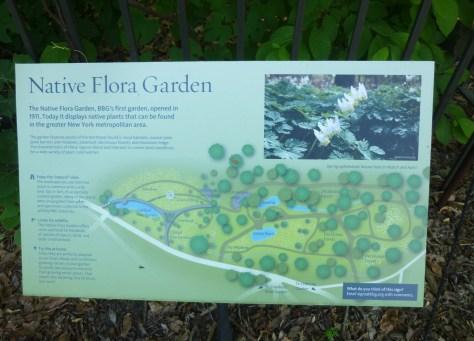 Native Flora Garden Signage