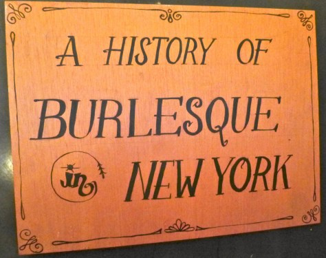 History of Burlesque Signage