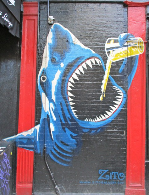 Shark with Beer