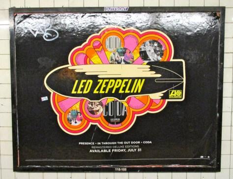 Led Zeppelin Subway Ad