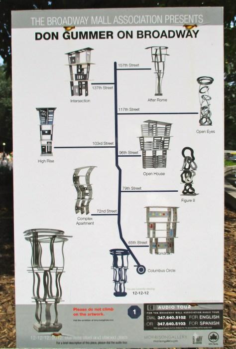Don Gummer Sculptures Map