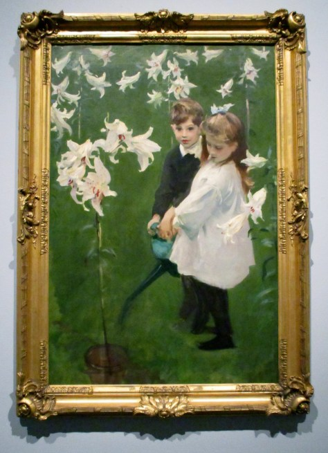 Garden Study of the Vickers Children, Billy and Dorothy, 1884