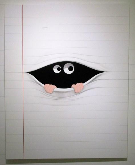 Note Paper Peeking