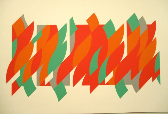 Bridget Riley Orange and Green