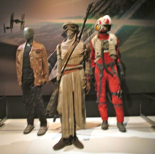 Costumes Worn By Finn, Ray and Poe