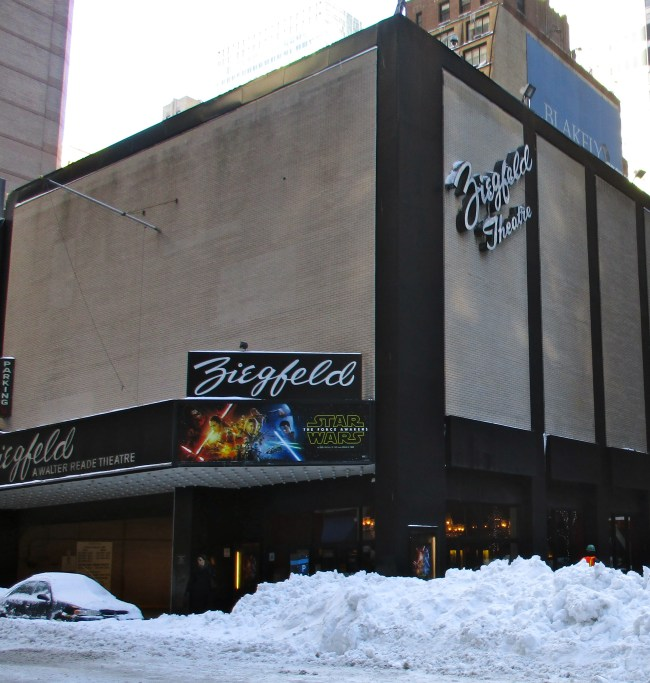 Ziegfeld Exterior With Snow