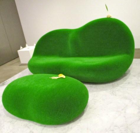 Botanical Sofa and Side Table