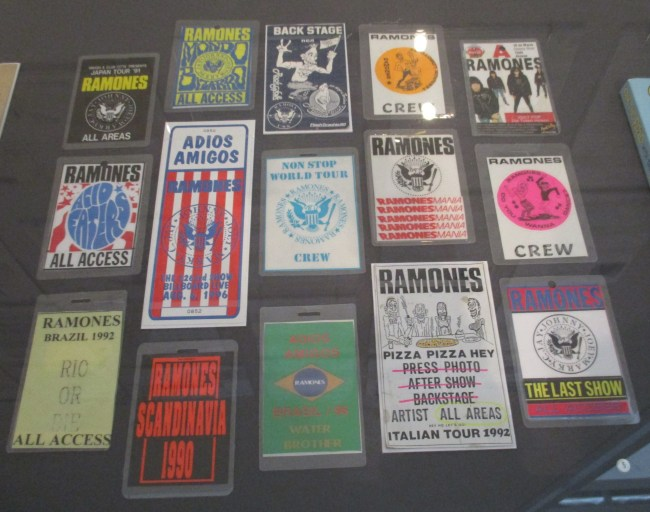 Ramones Backstage Passes