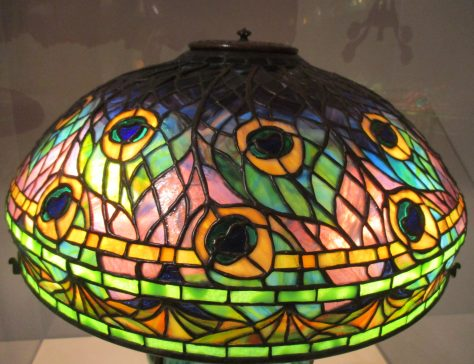 Peacock Lamp Shade Detail