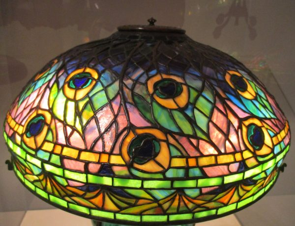 Peacock Lamp Shade Detail