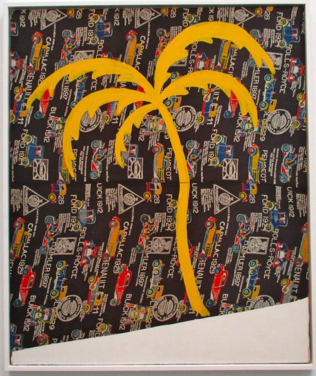 Palme auf Autostoff (Palm Tree on Fabric)