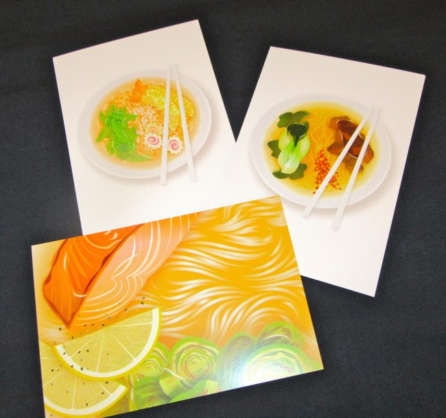 Ramen Art Cards by Michele Humes