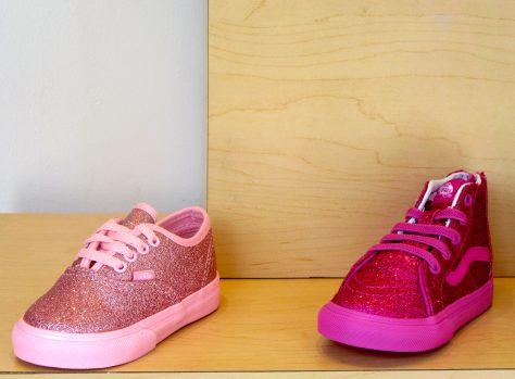 Pink Glitter Kids Sneakers