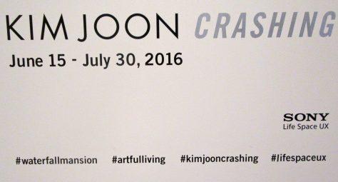 Kim Joon Crashing Signage