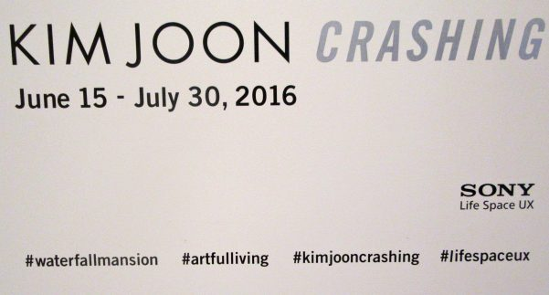 Kim Joon Crashing Signage