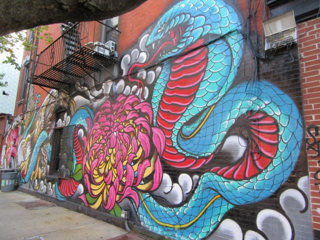 Cobra Mural from the West