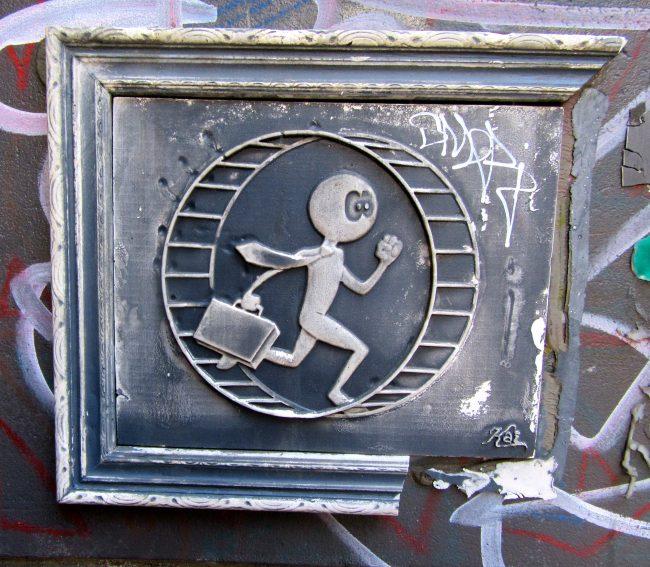 Man on Hamster Wheel By Kai