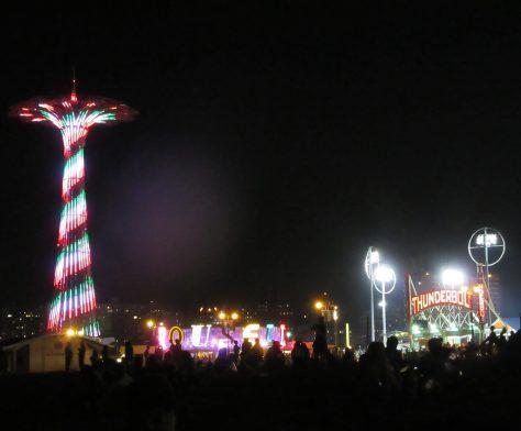 Parachute Jump at Night