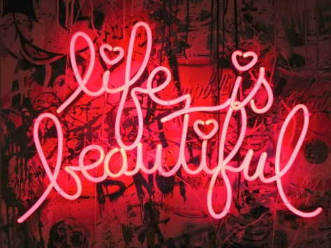 Life is Beautiful Neon Sign