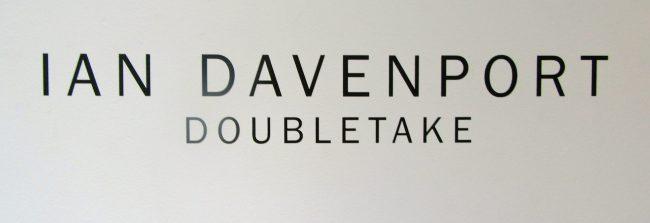 Ian Davenport Signage