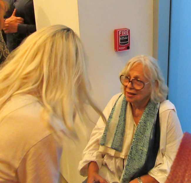 Lynda Benglis With Fan