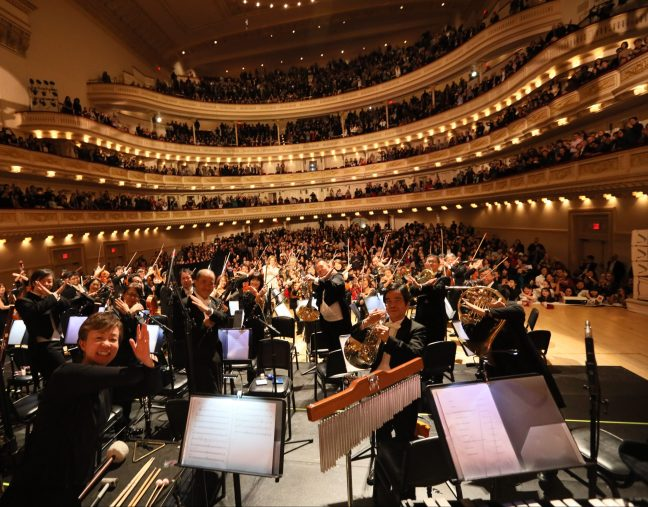 Yoshiki at Carnegie Hall Orchestra