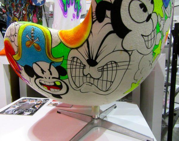 Cartoon Character Midcentury Chair Detail