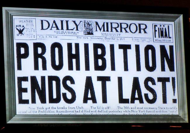 End of Prohibiton Headline