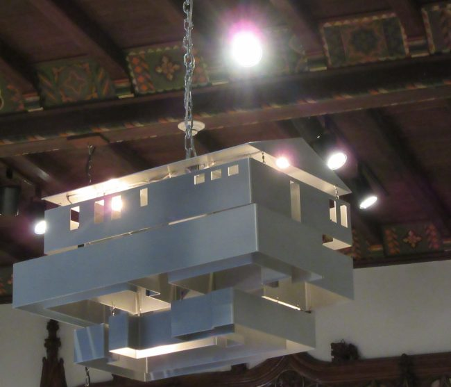 Mobile Homestead Swag Lamp By Mike Kelley