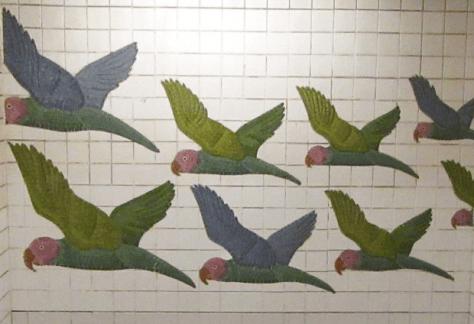 Parrots Tile Mosaic