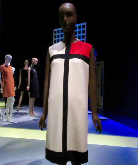 YSL Couture Color Block Dress
