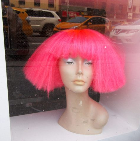 Pink Fright Wig