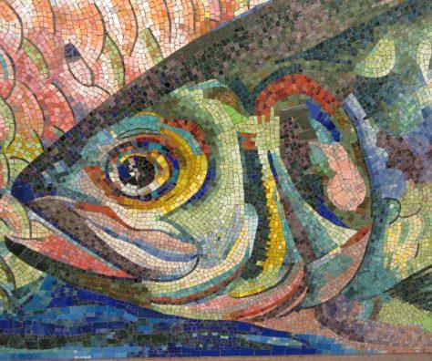 Fish Tile Mosaic Close Up