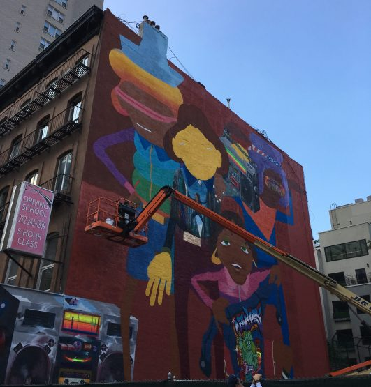 Os Gemeos Mural Western Face Week of Sept 16